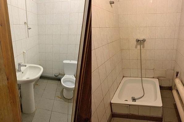 В пункте обогрева есть душевая и туалет