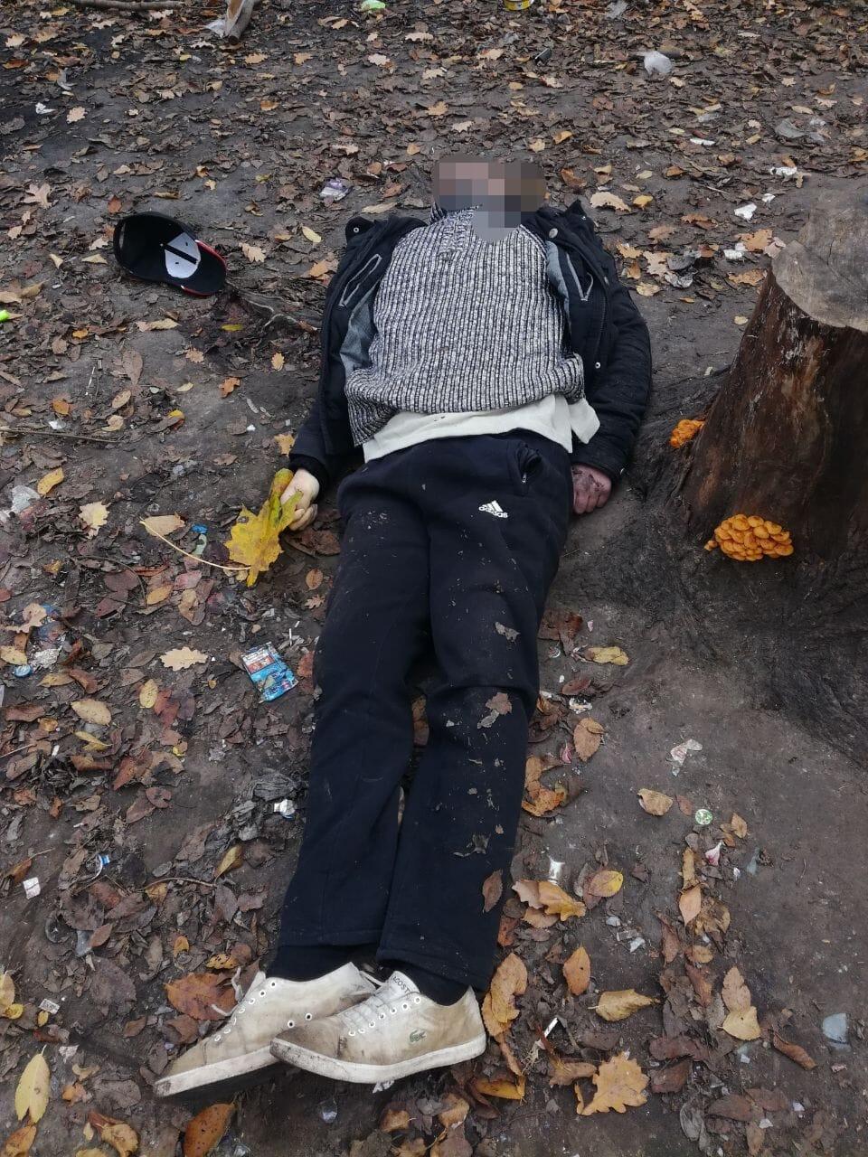 В городе Белая Церковь Киевской области прохожие наткнулись на труп мужчины в лесополосе