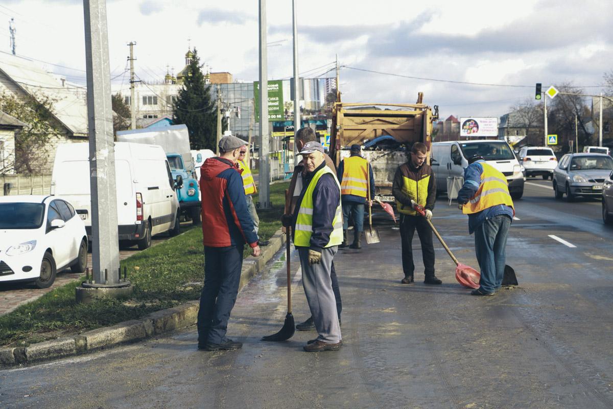 Движение по улице Киевской было затруднено