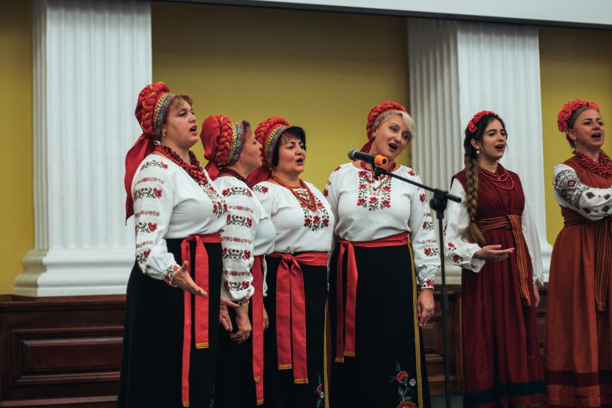 У Колонній залі пролунало декілька українських пісень