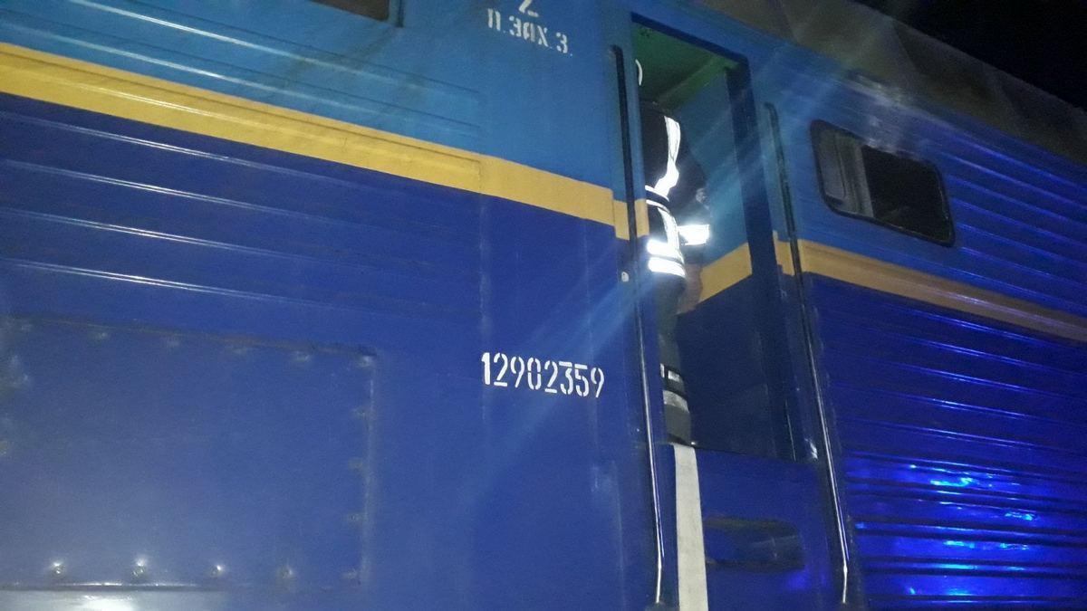Между железнодорожными станциями Ирпень и Беличи произошел пожар