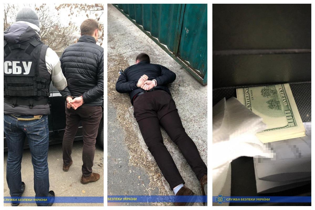 В Киеве сотрудники СБУ задержали старшего следователя Оболонского управления полиции за вымогательство