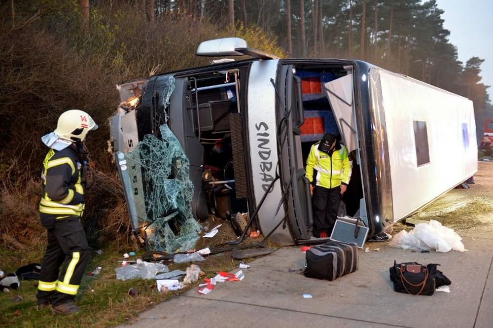 Десятки людей пострадали в результате аварии автобуса