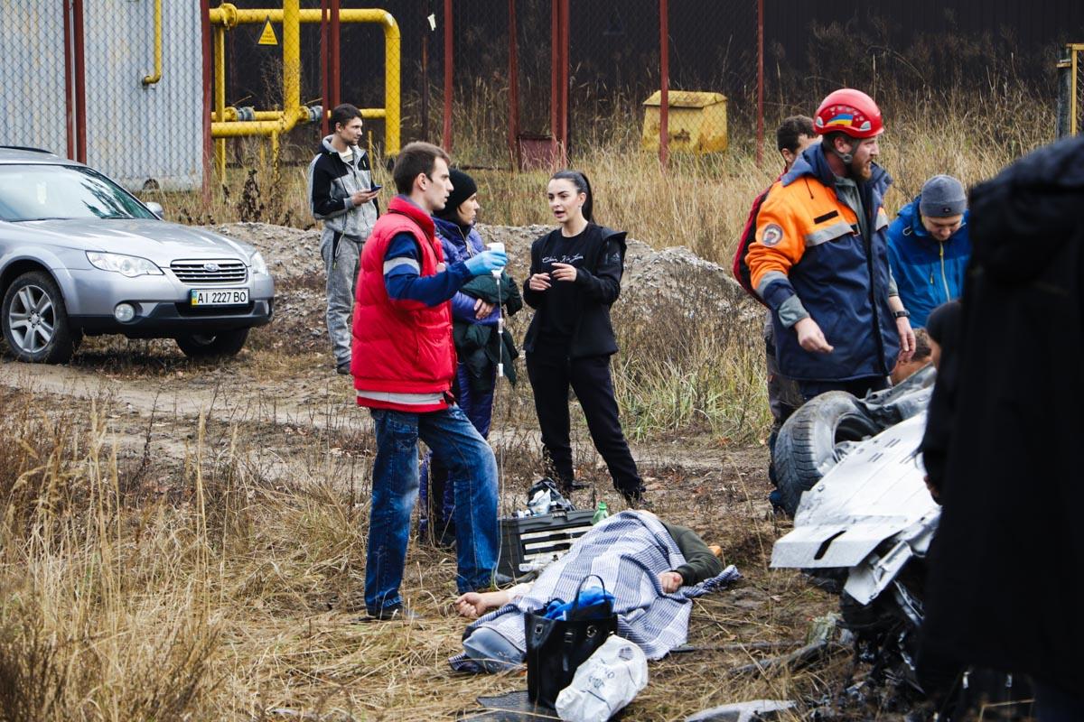 Мужчину откачали на месте, всех пострадавших доставили в больницу