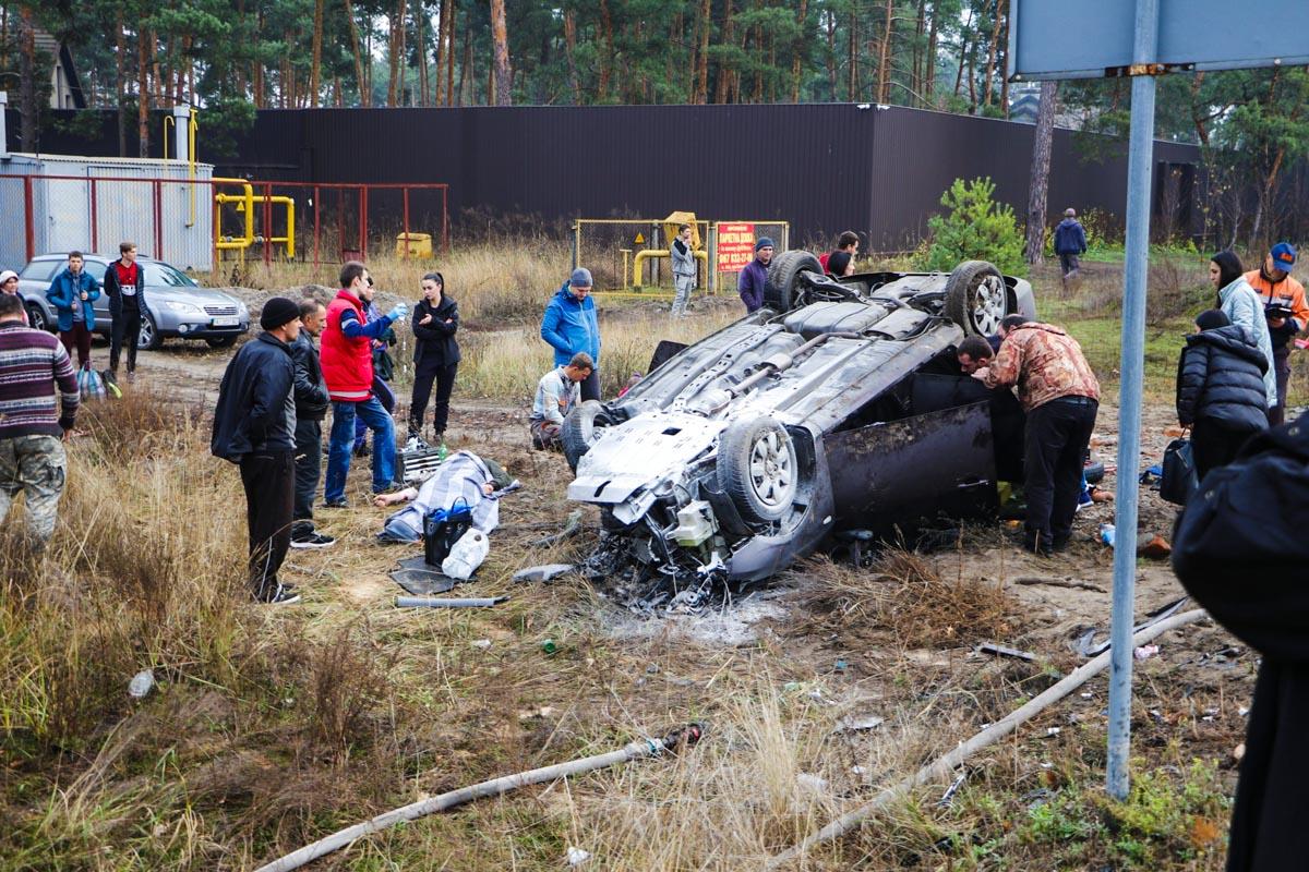 В субботу, 9 ноября, в Обуховском районе под Киевом случилась серьезная авария