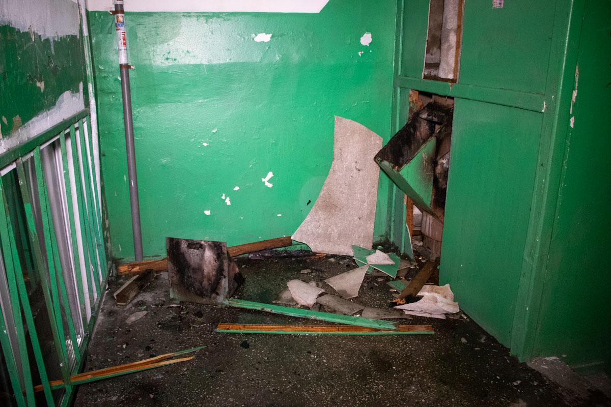 Эпицентр детонации оказался в одном из парадных между этажами