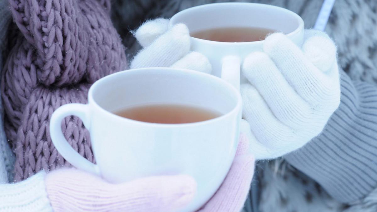 много картинка чашка чая и снег словам