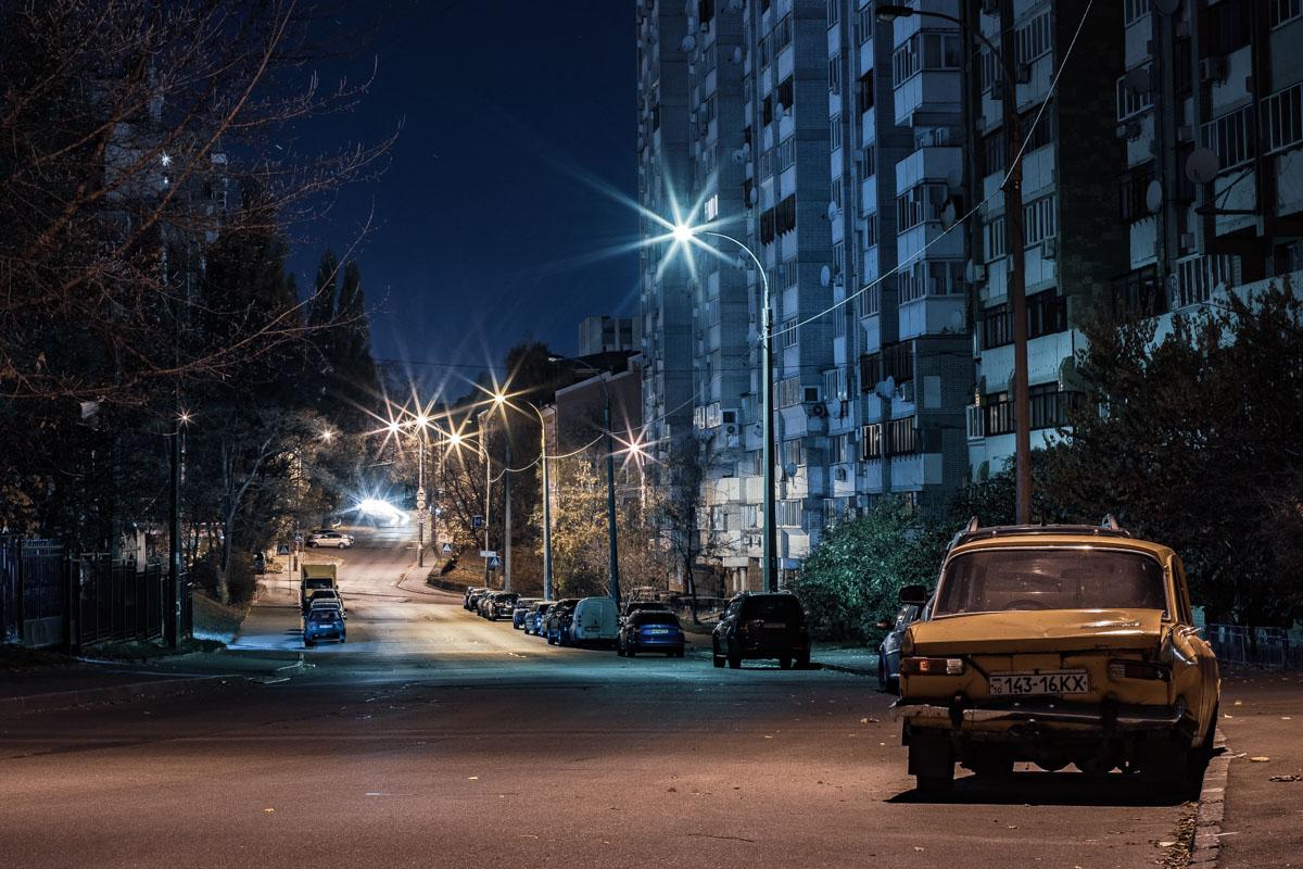 Вдали виднеется пересечение со Стадионным переулком и улицей Богдановской