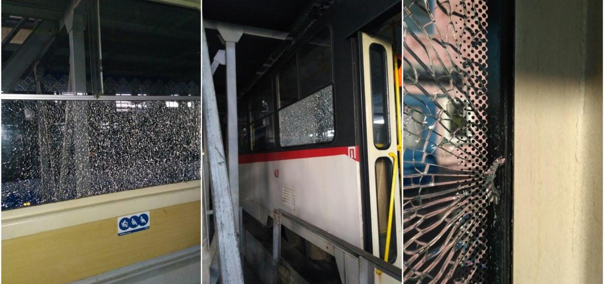 В Киеве неизвестные стреляли по окнам скоростного трамвая