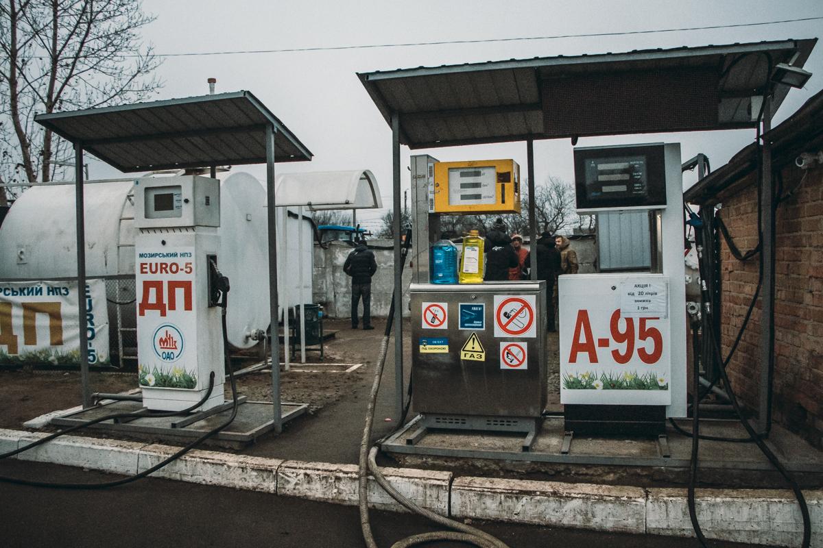 В Борисполе пытаются закрыть АЗС без документов и разрешений