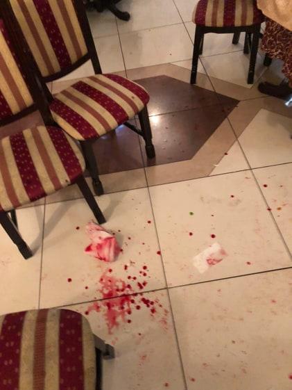 """Последствия стрельбы в ресторане """"Баку"""""""