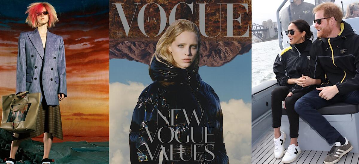 Посередине - обложка украинского Vogue на январь 2020 года
