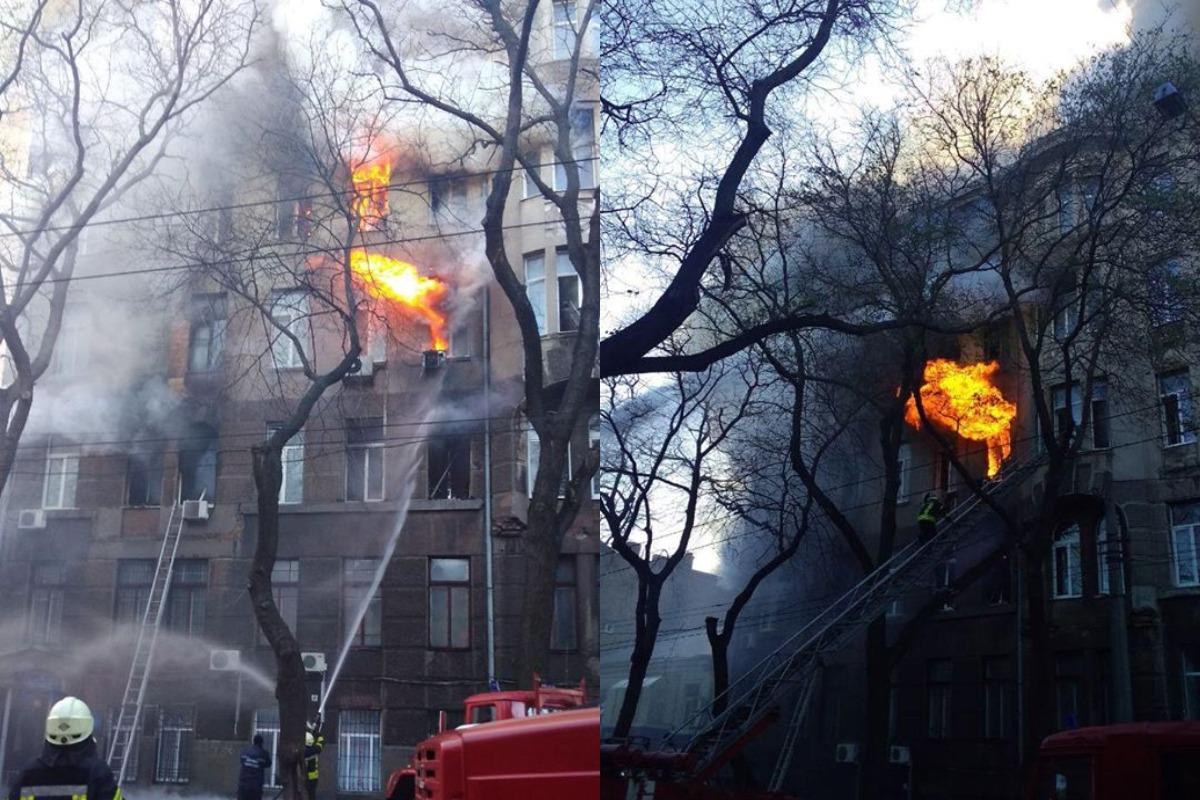 Во время пожара там находились студенты