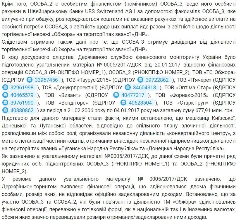 """Кроме того, в отношении """"Донукпроектнії"""" было открыто уголовное дело по подозрению в финансировании терроризма"""