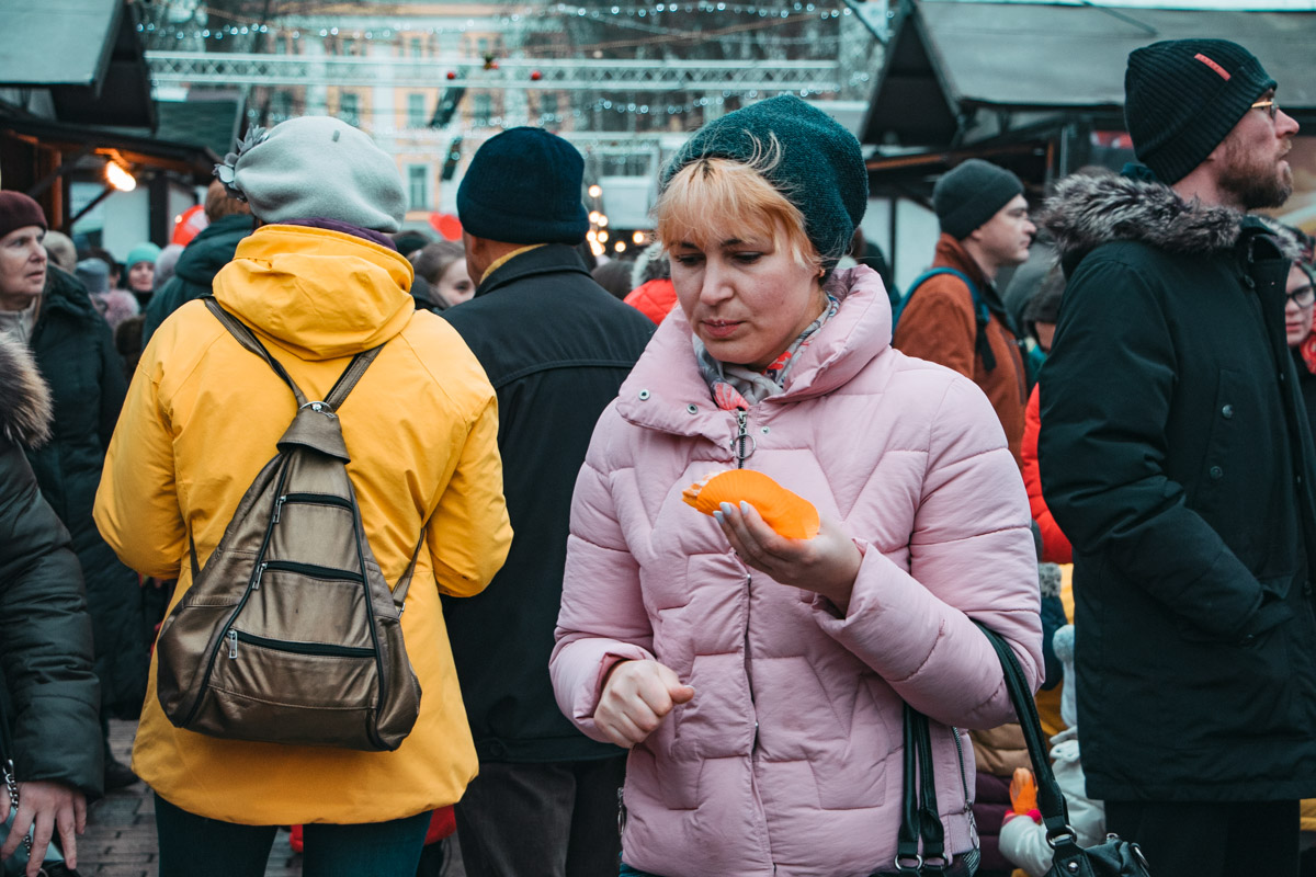 В парке Шевченко собрались много любителей эклеров :)