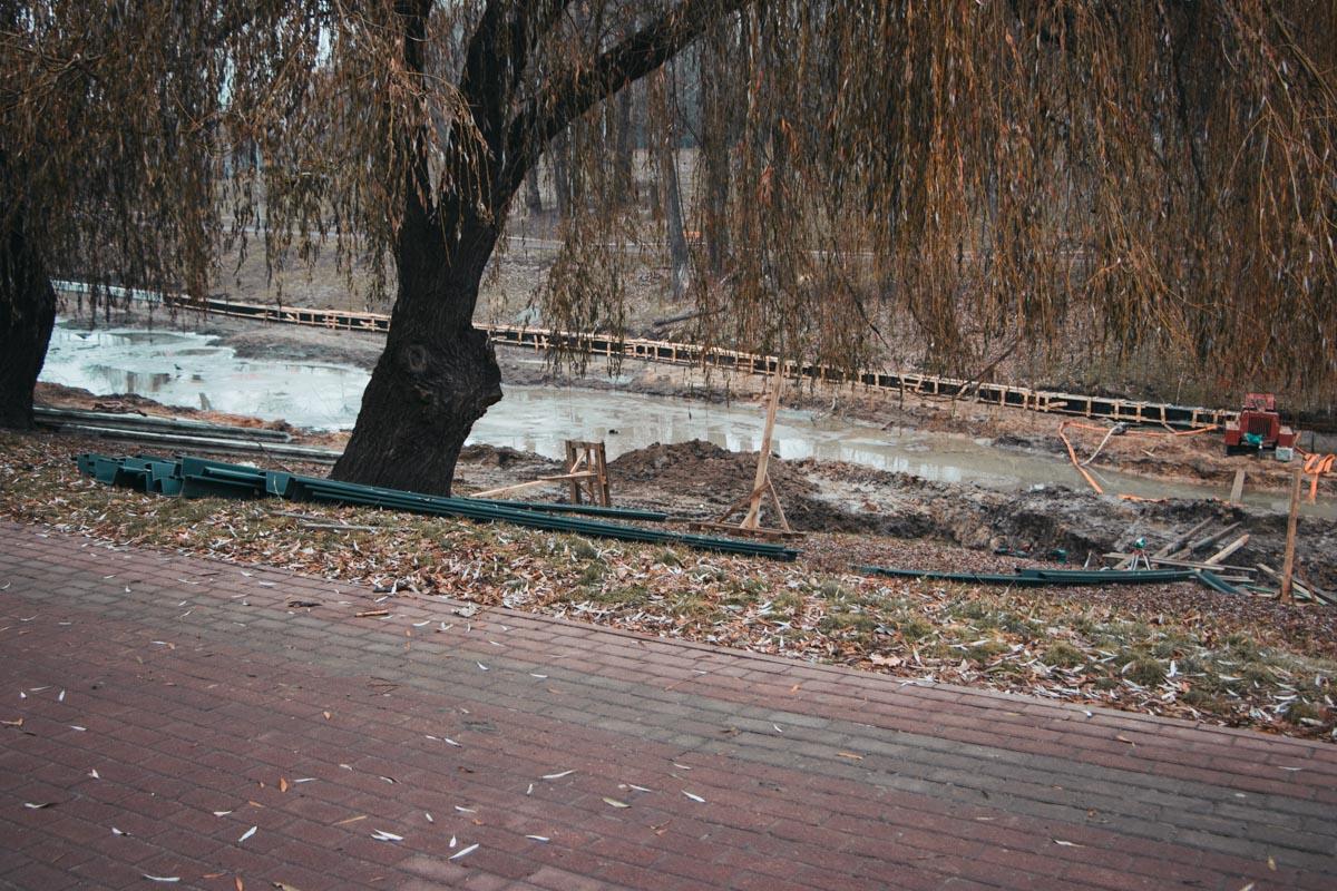 Это случилось во время расчистки озера