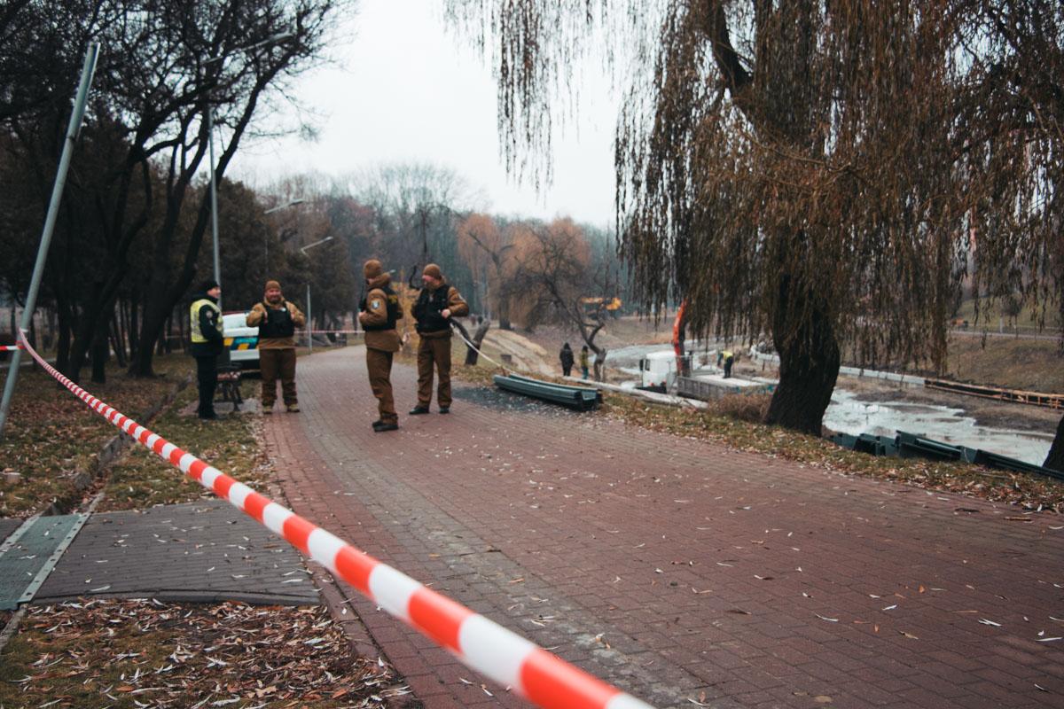 В парке Отрадный обнаружили опасную находку