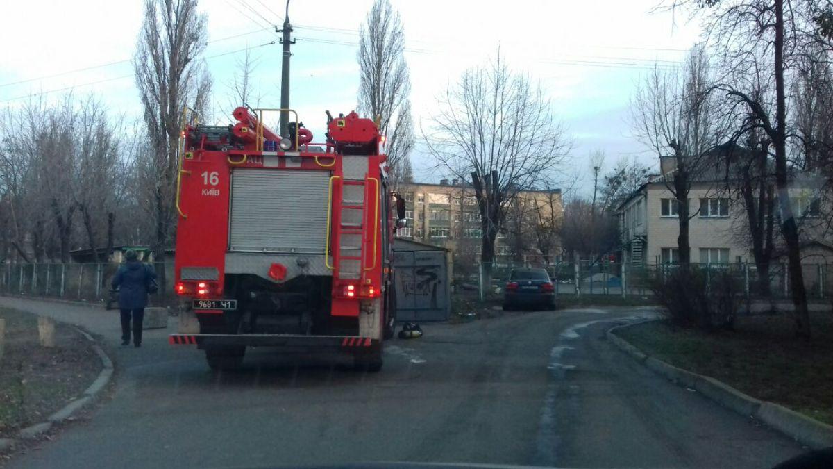Ранним утром 2 декабря в Киеве по адресу проспект Юрия Гагарина, 9а горел детский сад