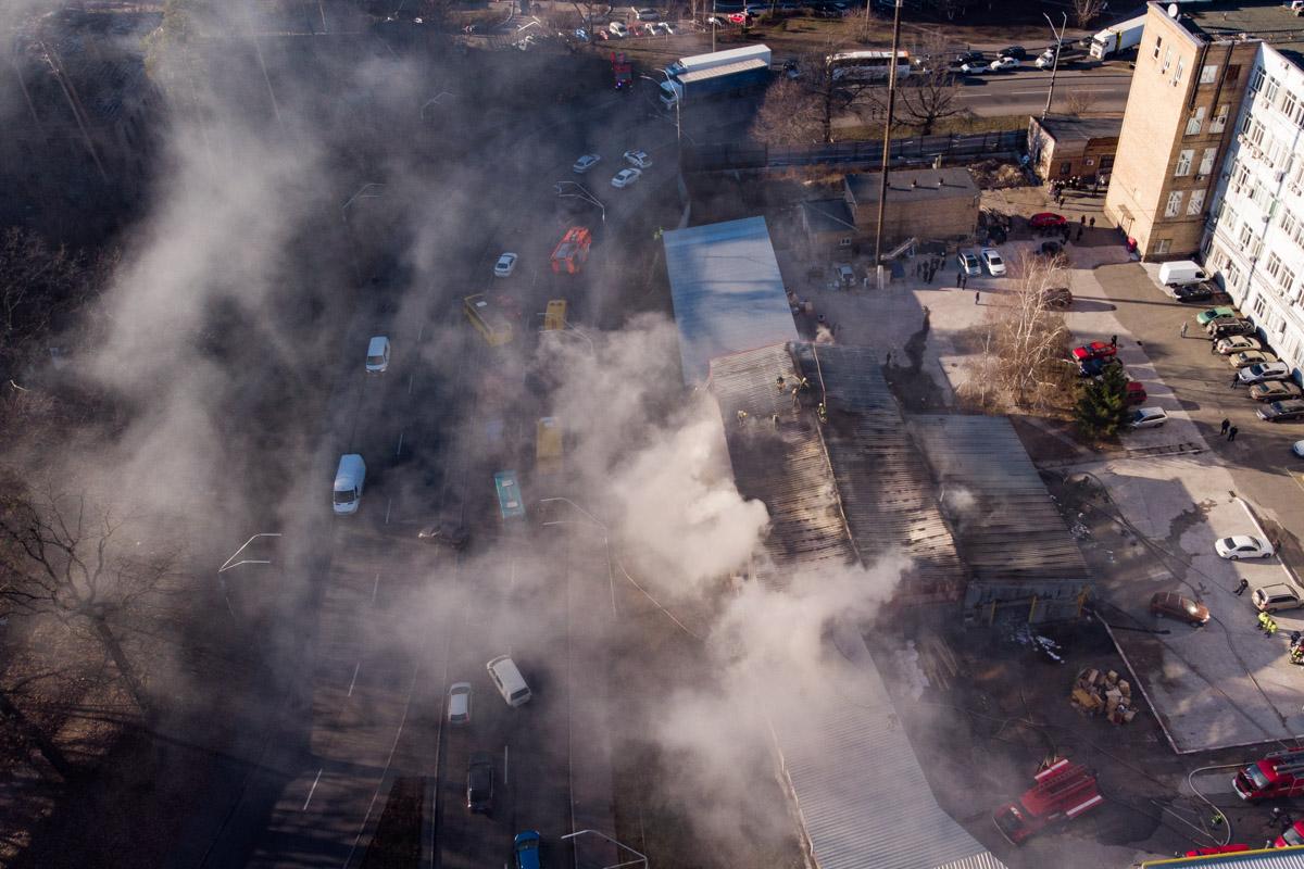Детали и причина пожара станут известны позже