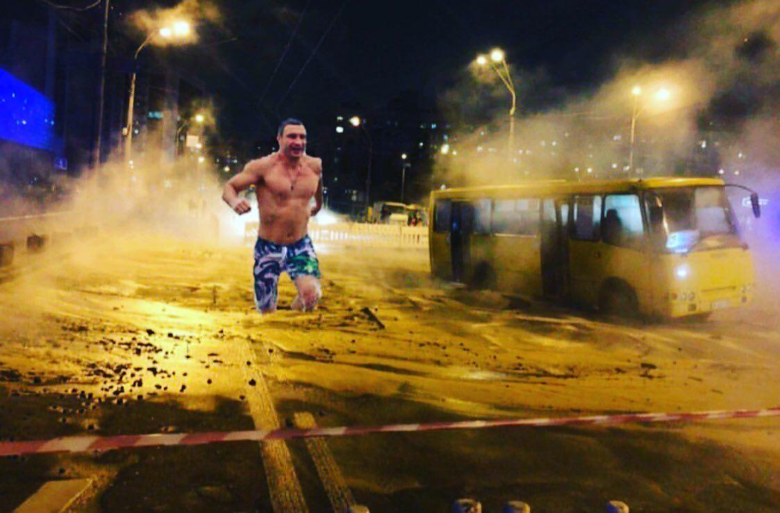 Самые творческие создали фотожабу, главным героем которой стал мэр Киева Виталий Кличко