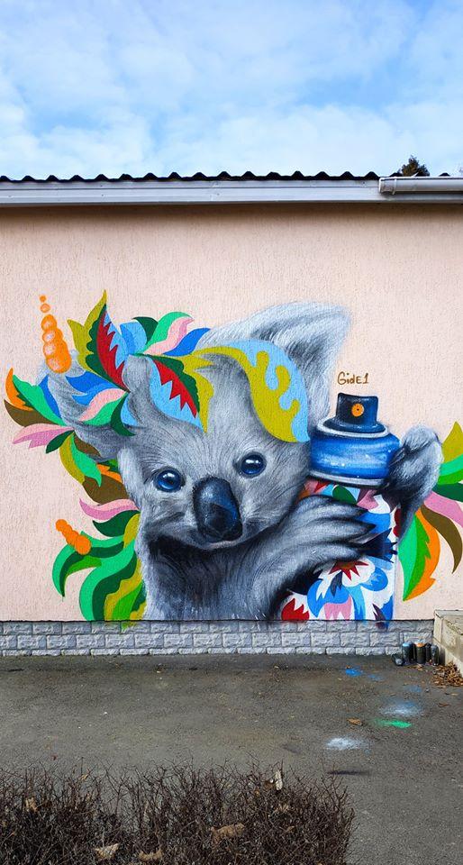 В селе Софиевская Борщаговка поселилась разноцветная коала