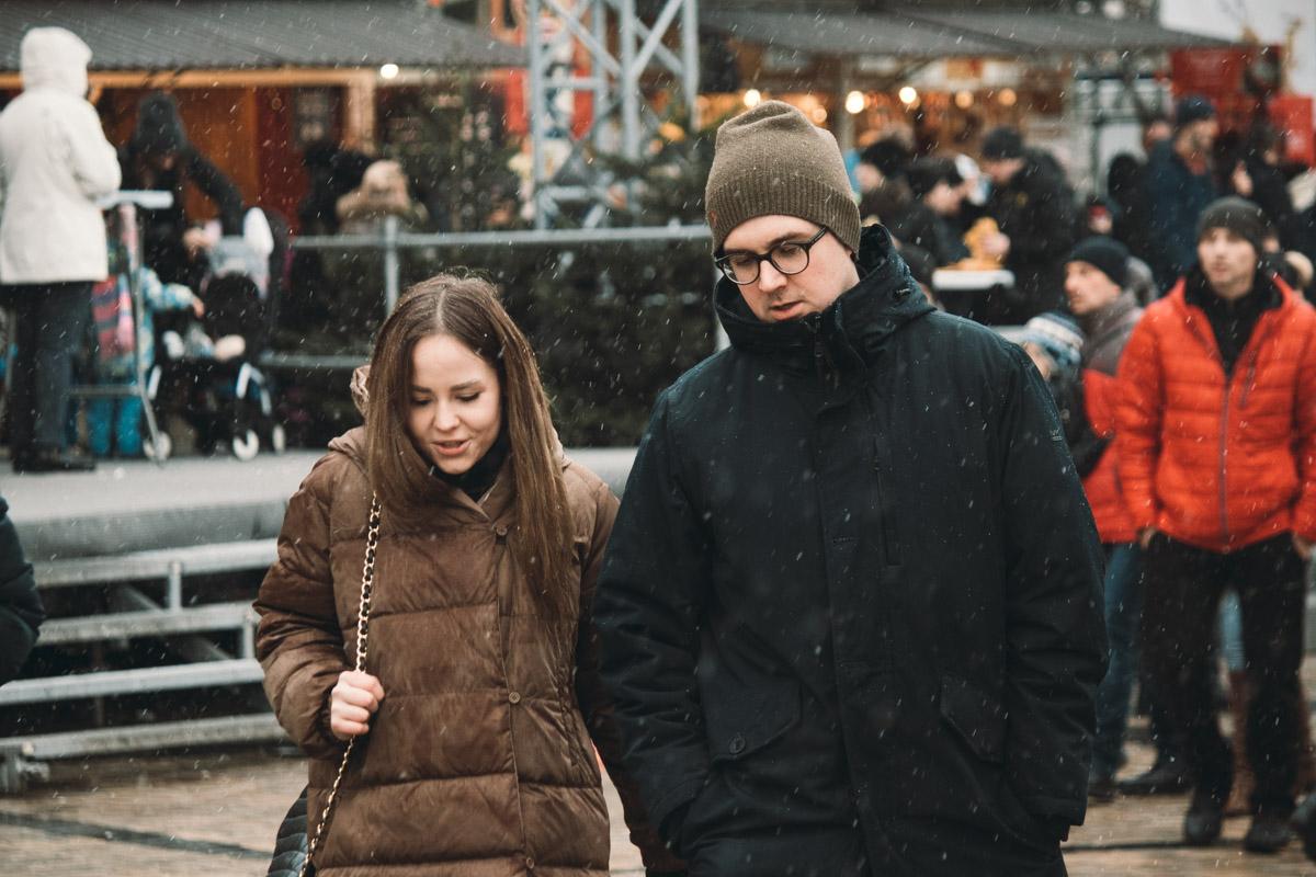 В Киеве холодно и снежно, а в душе тепло