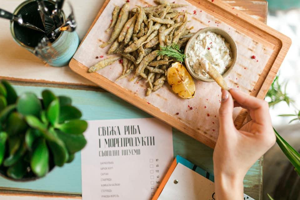 Морепродукты - главная фишка ресторана