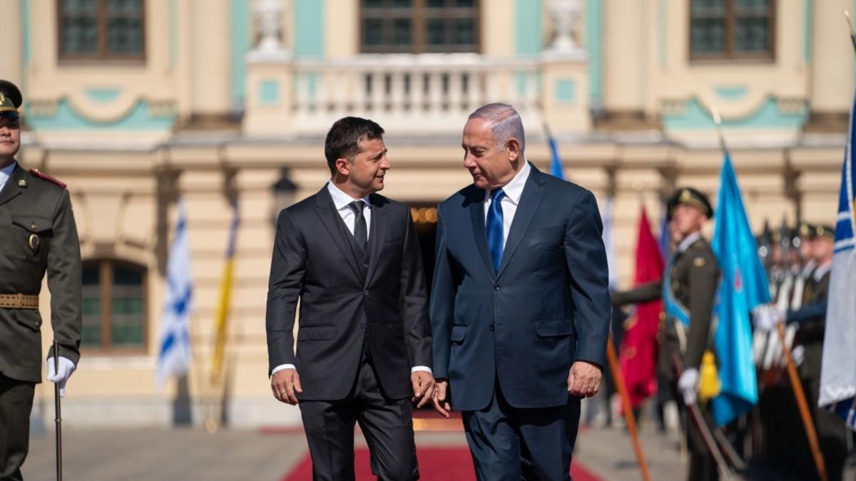 Президент Украины Владимир Зеленский встретился с Премьером Беньямином Нетаньяху