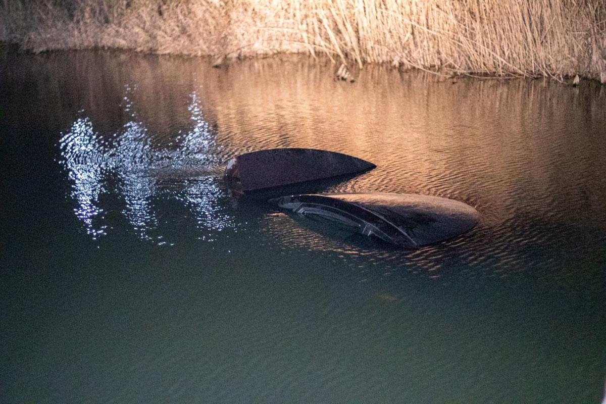 На окраине Ирпеня Hyundai упал в реку