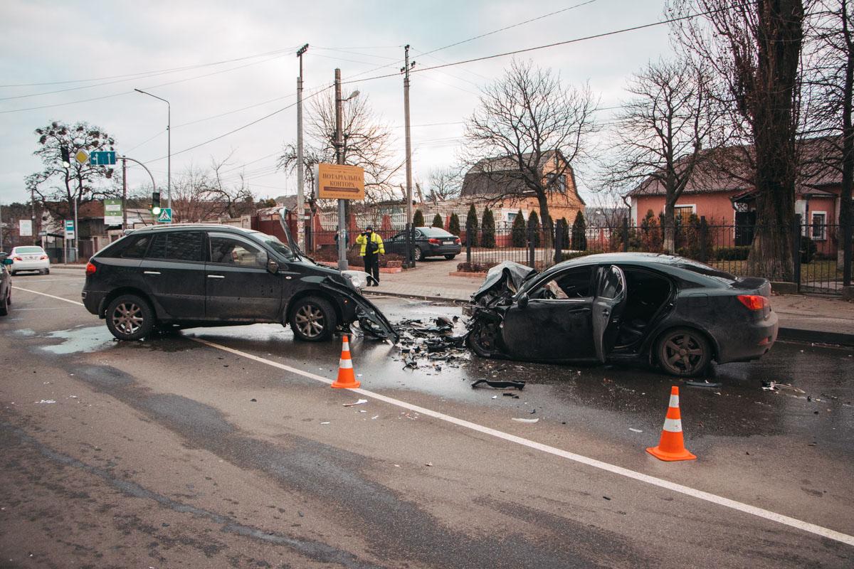 В селе Софиевская Борщаговка произошло серьезное ДТП