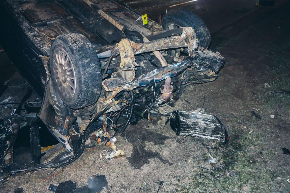 Автомобиль влетел в Kia и перевернулся