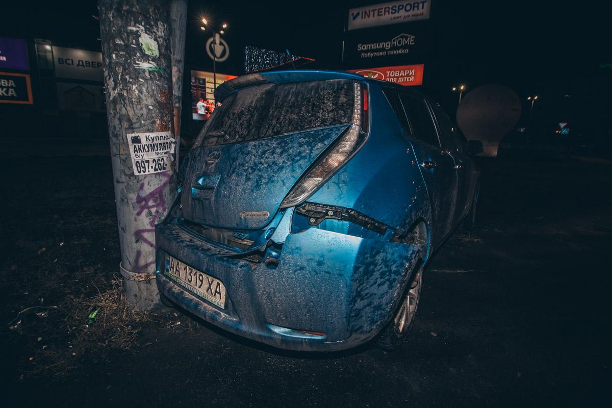 Водитель Nissan не пострадал