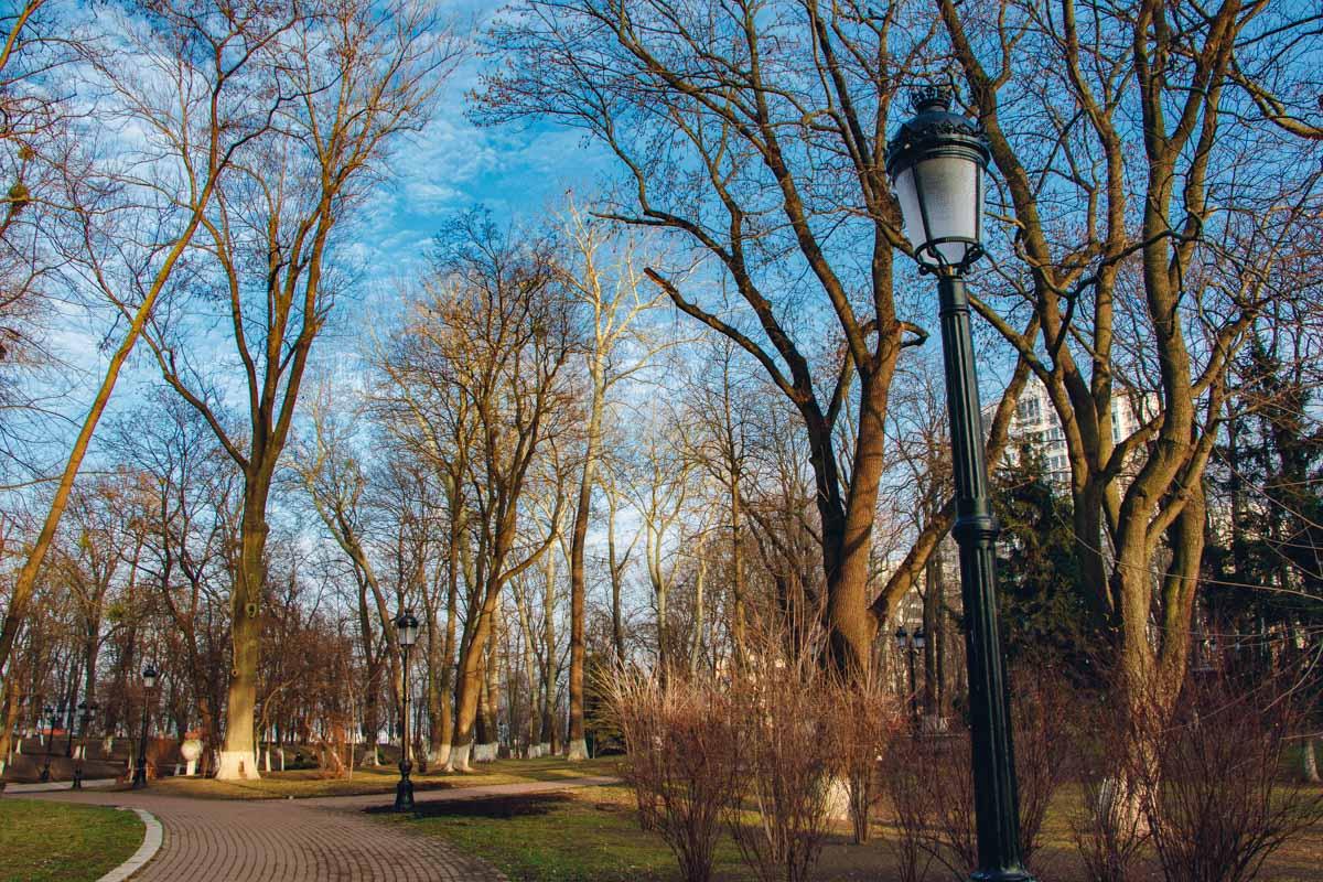 В конце 2019 года в Мариинском парке Киева провели ремонт системы освещения