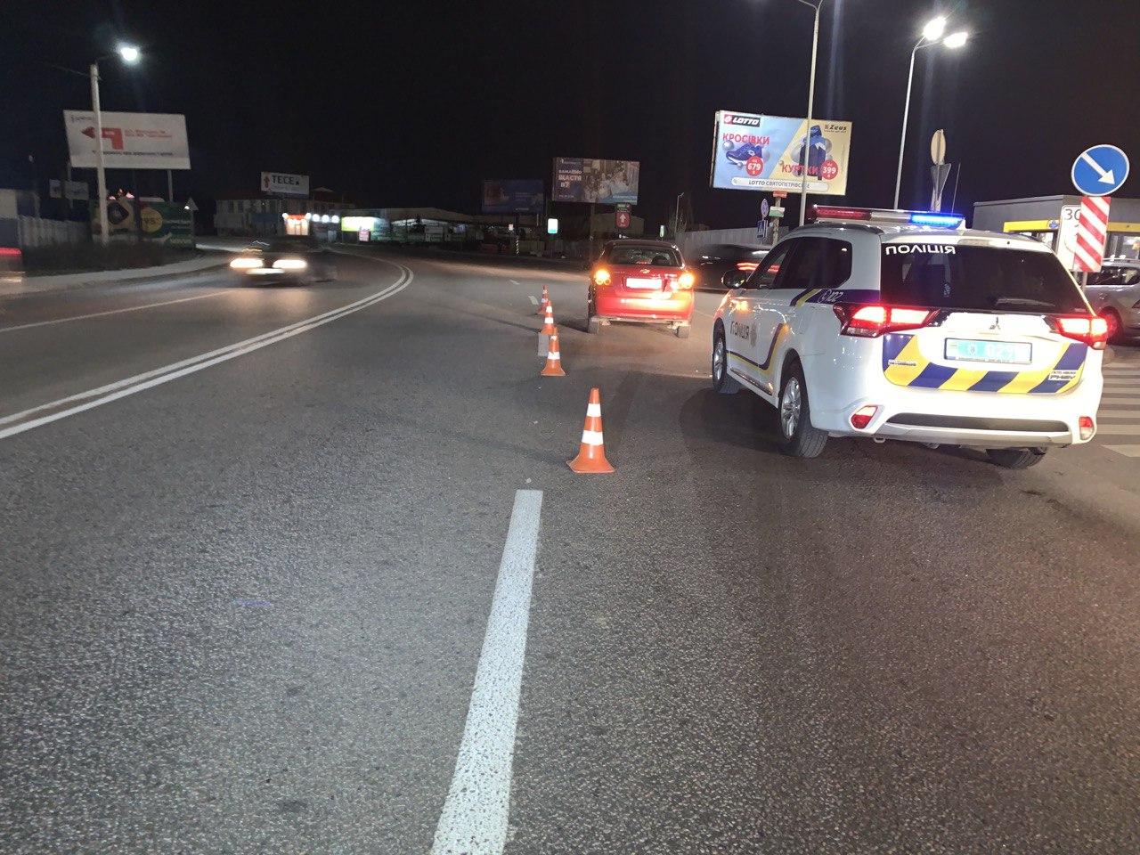 8 января в Вишневом автомобильChevrolet Aveo сбил пешехода