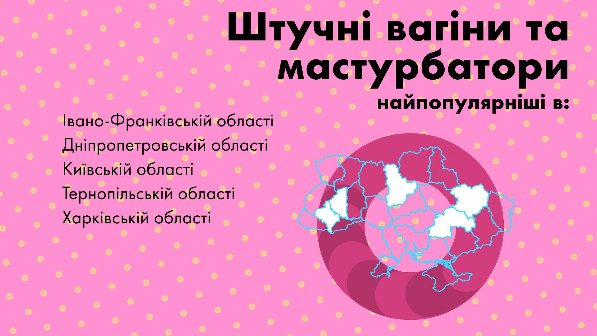 Искусственные вагины и мастурбаторы чаще всего берут в Ивано-Франковской области