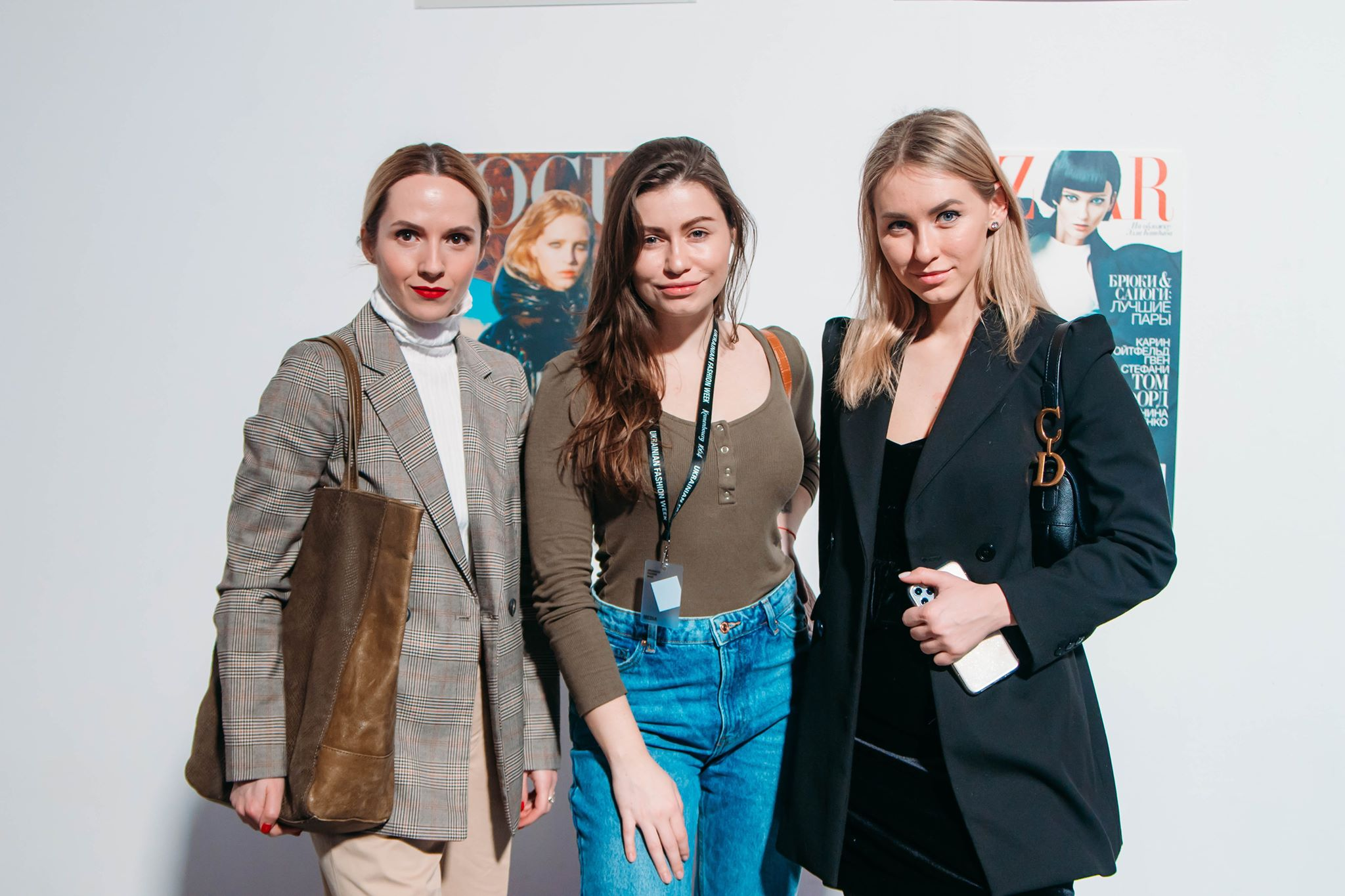 Стилист Анна Константинова, редактор Информатор Киев Алина Харавасил и блоггер Мила Заболотная на UFW