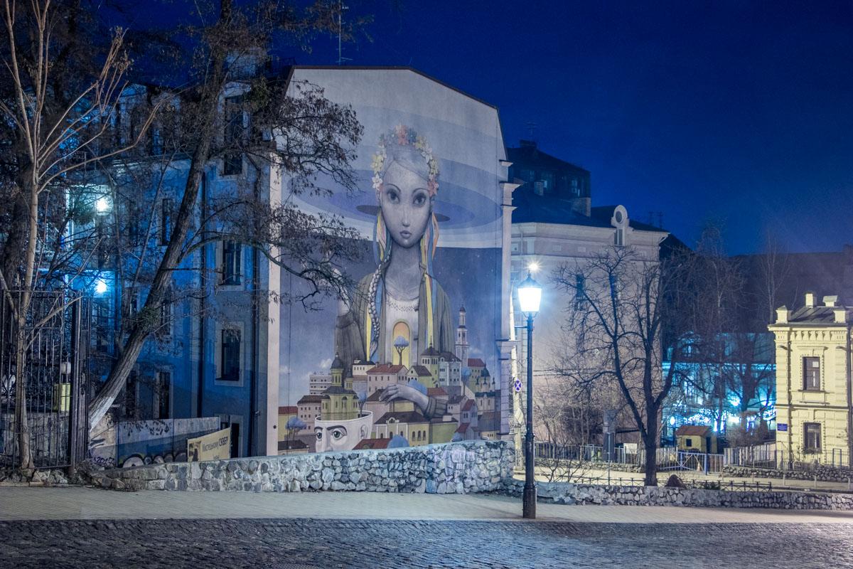 Тишина и покой в ночном Киеве