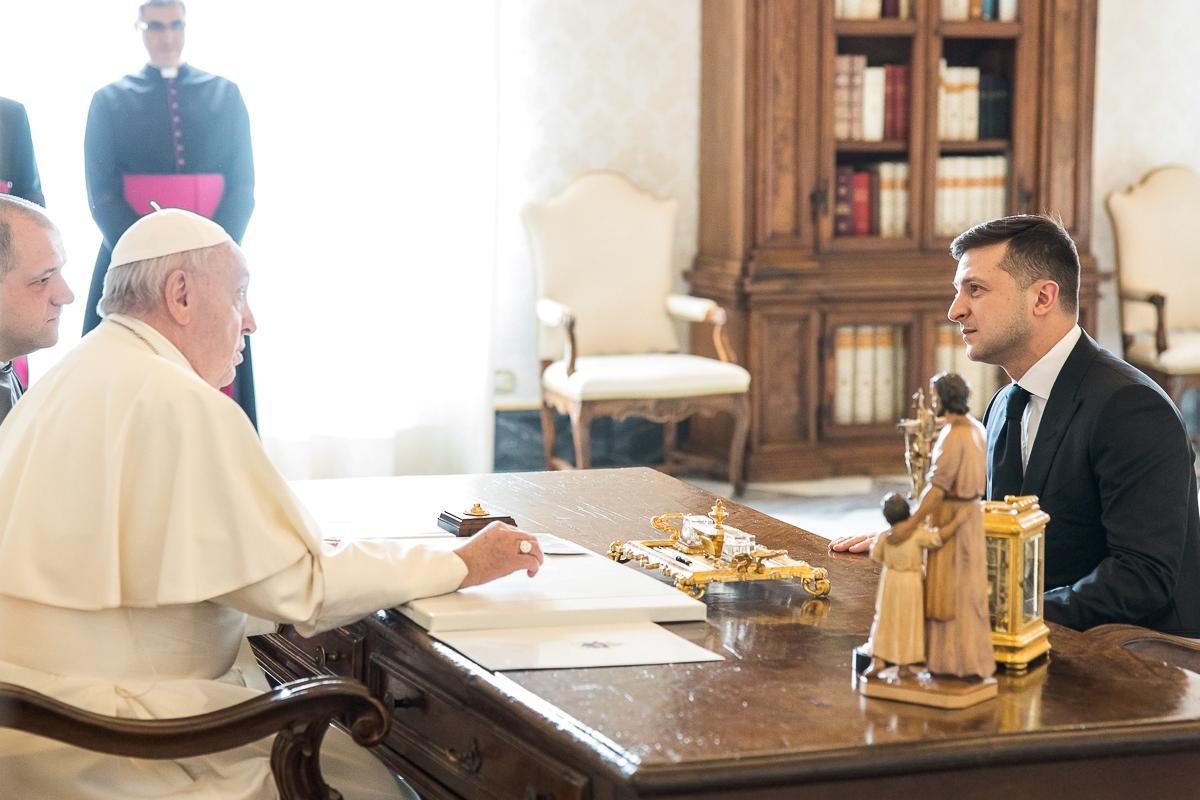 Встреча Зеленского и Папы Римского в Ватикане