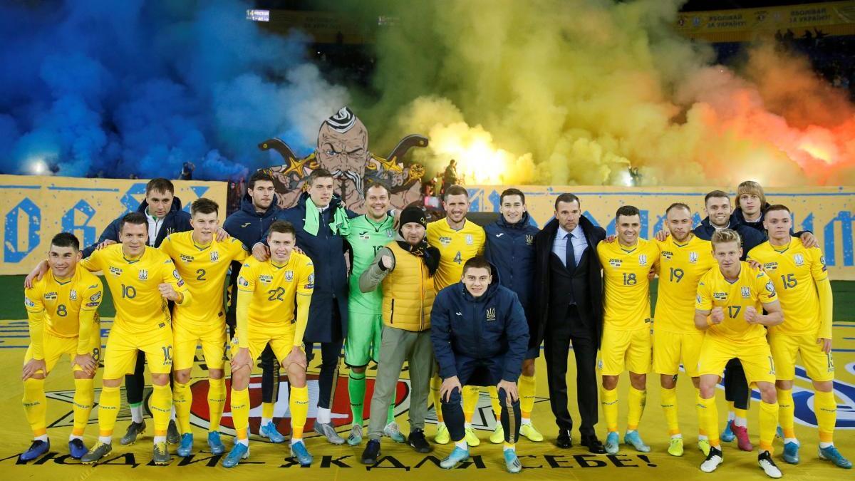 Сборная Украины сыграет два товарищеских матча при пустых трибунах