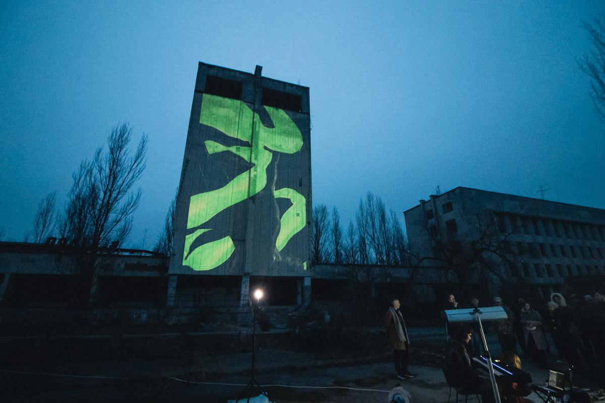 3-D проекция Прометея на гостинице Полесье