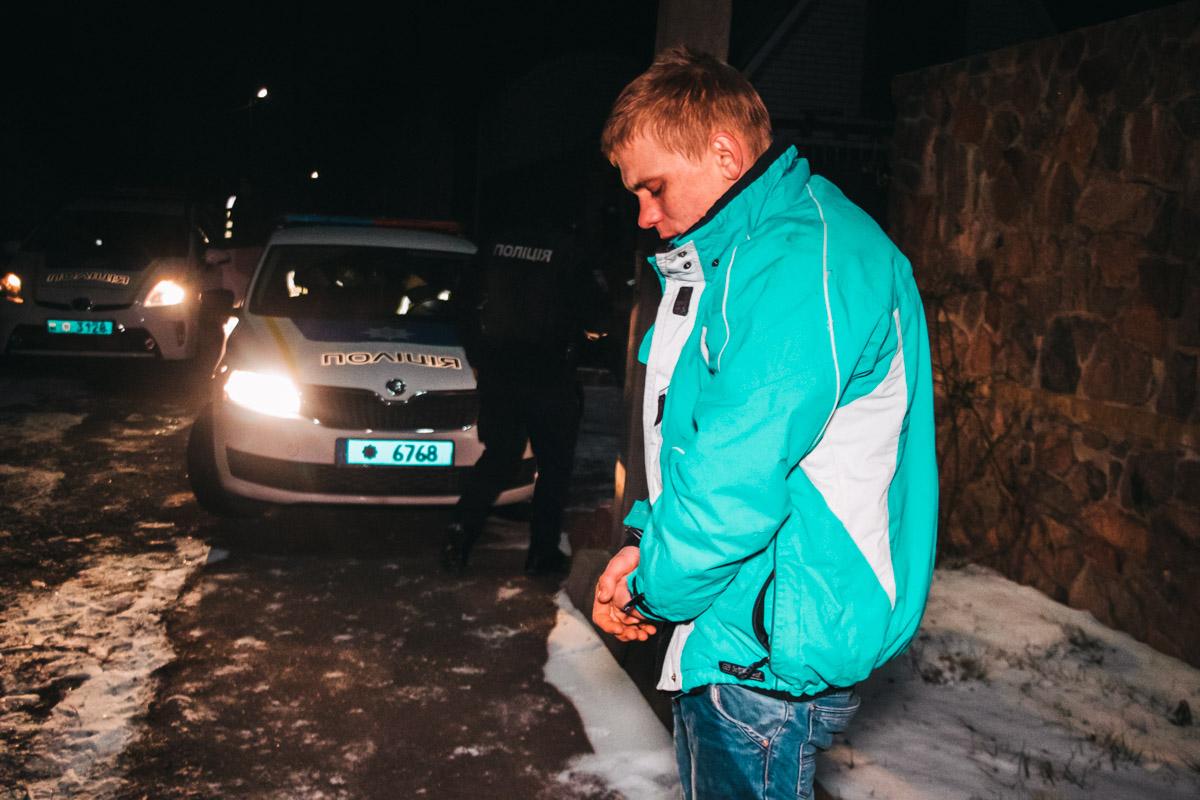 Машину удалось остановить лишь в селе Софиевская Борщаговка