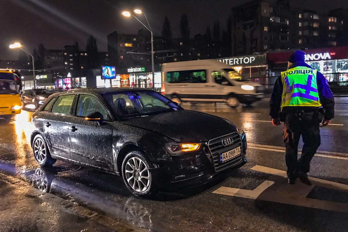 Столкнулись автомобили BMW X1 и Audi A3
