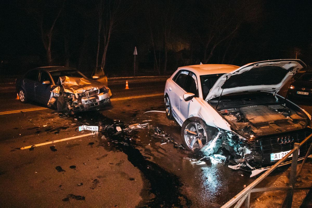 В Броварах столкнулись две Audi