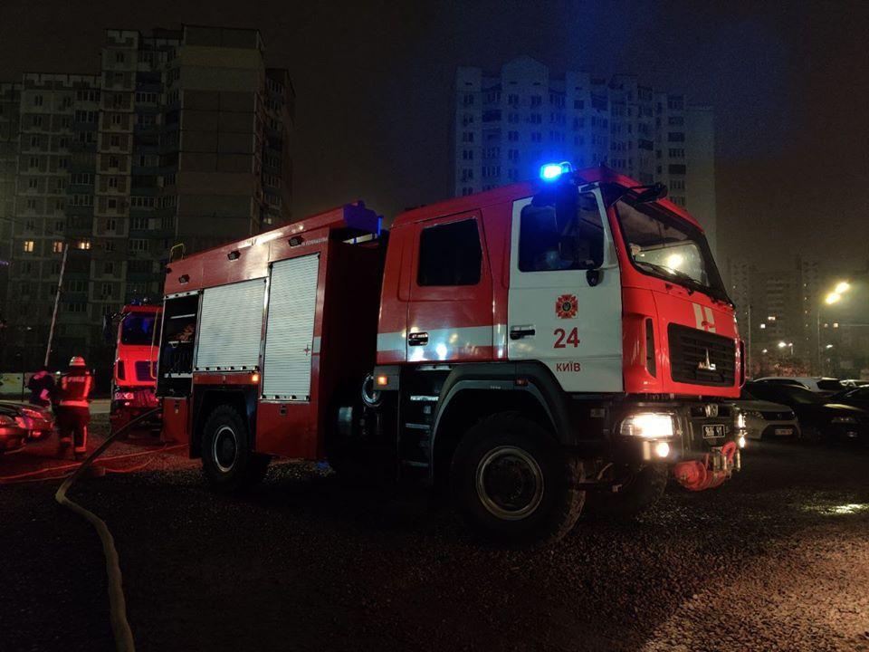 В понедельник, 9 марта, в Дарницком районе Киева на Позняках произошел пожар