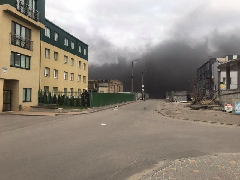 В субботу, 14 марта, в Киеве произошел пожар