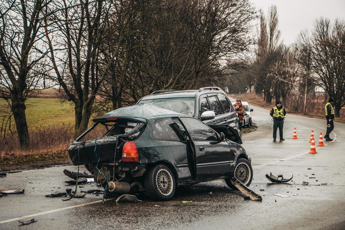 Под Киевом на трассе около села Мартусовка произошла смертельная авария