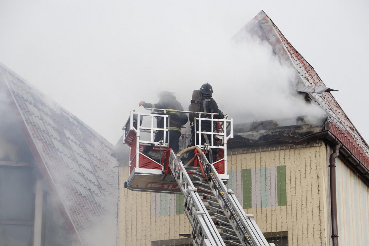 На въезде в Киев, в селе Чабаны, произошел пожар