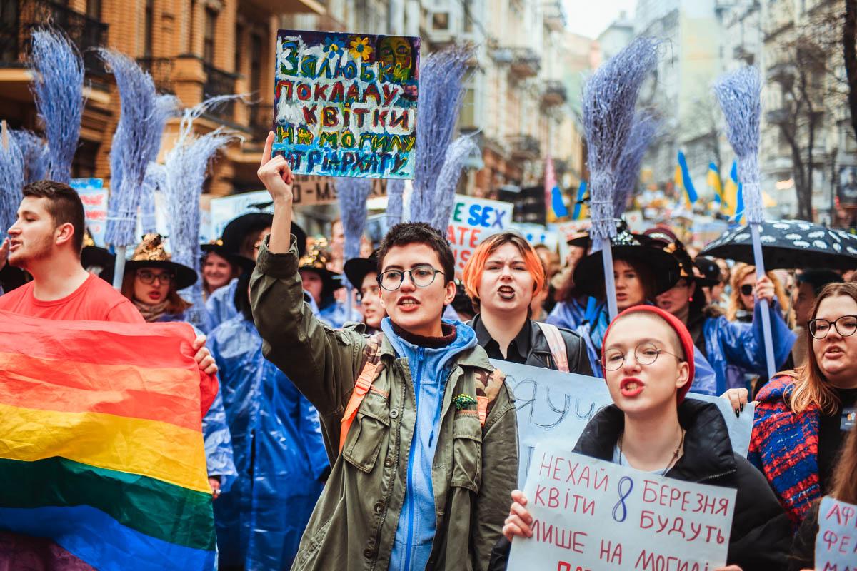 Несколько маршей и митингов стартовали в Киеве в одном месте 8 марта