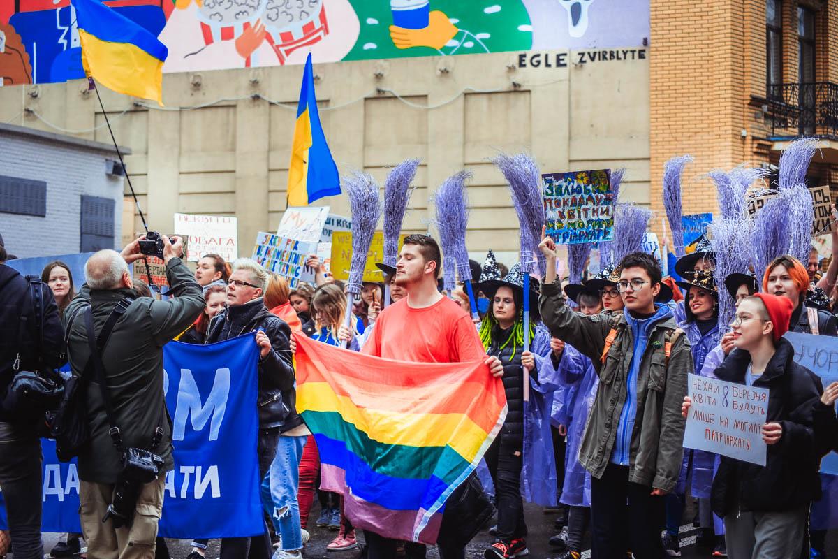 Это были представители ЛГБТ-сообществ, семьи, пожилые люди, парни с девушками, люди с инвалидностью, ВИЧ-инфекцией