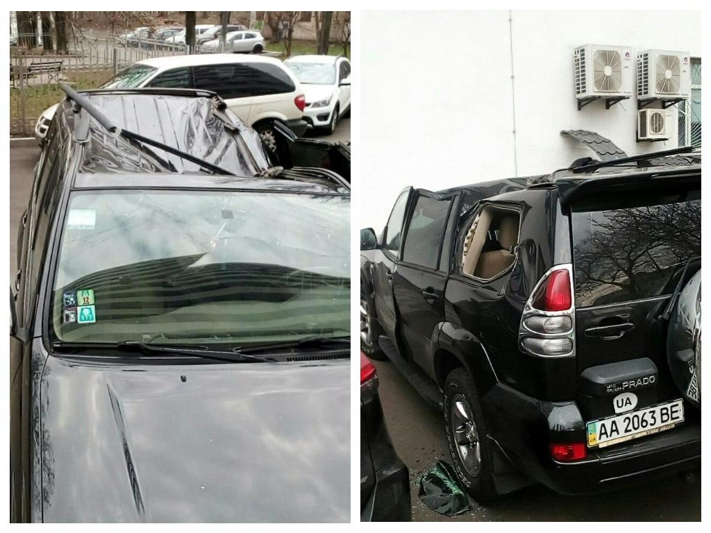 Из окна больницы мужчина упал на припаркованный внедорожник